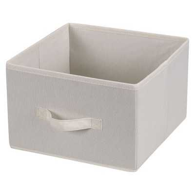 Household Essentials Fabric Cube - Natural Canvas - Target