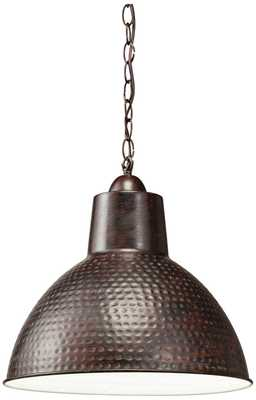 "Kichler Missoula 13 1/2"" Wide Bronze Pendant - Lamps Plus"