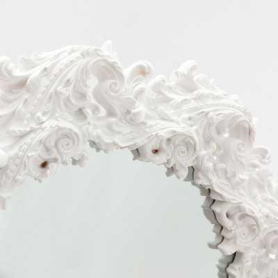ROUND WHITE RESIN MIRROR - Zara Home