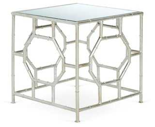 Carrie Side Table, Silver/Mirrored - One Kings Lane