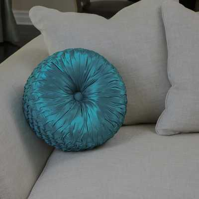Christopher Knight Home Round 14-inch Turquoise Pillow - Polyester fill - Overstock