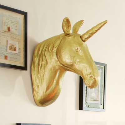 The Emily + Meritt Unicorn Wall Mount - Pottery Barn Teen