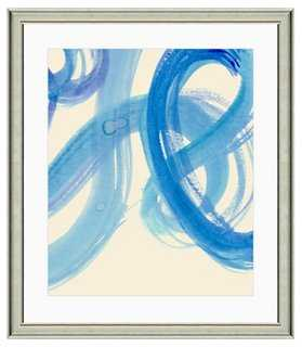 Blue Watercolor Swirl Print III - One Kings Lane