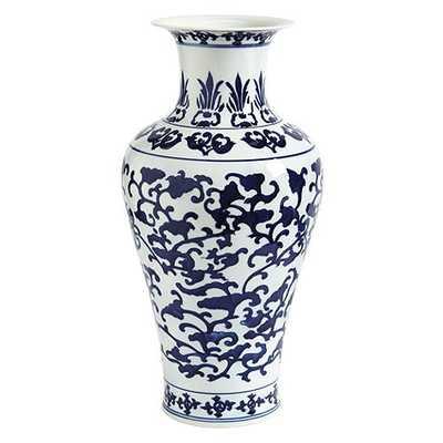 Blue & White Porcelain Vases- Tall Ginger Jar - Ballard Designs
