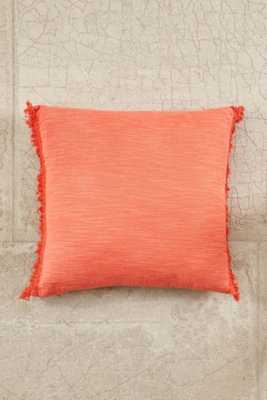 """Plum & Bow Brooklyn Oversized Fringe Pillow- Coral- 24""""l x 24""""w- Insert Sold Separately - Urban Outfitters"""