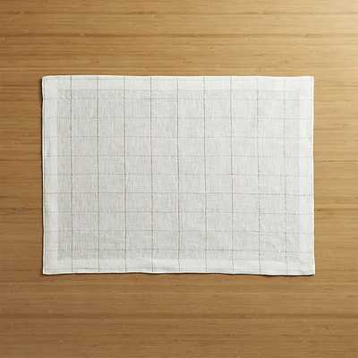 Myla Gold Linen Placemat - Crate and Barrel