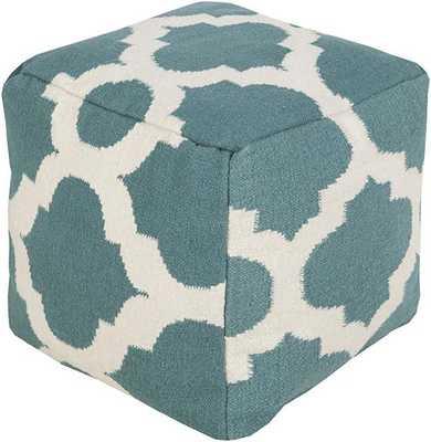MOROCCAN POUF - Light Aqua Green - Home Decorators