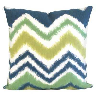 Liora Manne Zigzag Ikat Decorative Indoor/Outdoor Pillow- 20.000L x 20.000W- Polyester insert - Target