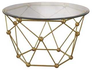 Corey Coffee Table, Gold - One Kings Lane