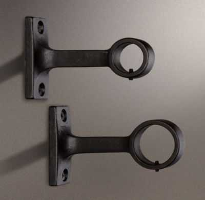DAKOTA END BRACKET (SET OF 2) - SOFT IRON - RH