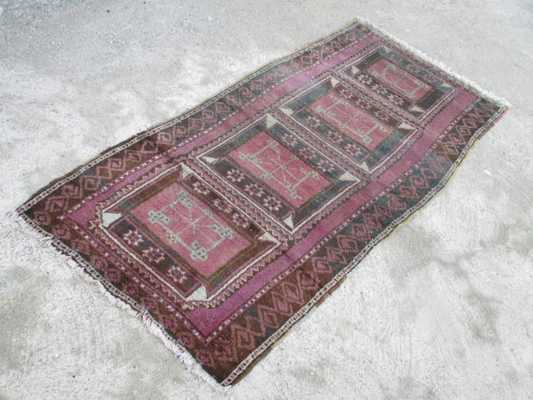 VINTAGE Oushak Tribal Turkish Handwoven Wool Rug - Etsy