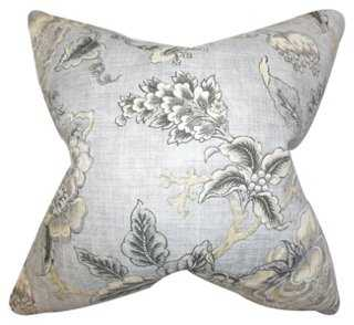 Floral Linen-Blend Pillow - One Kings Lane