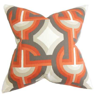 Rineke Geometric Cotton Throw Pillow - Wayfair