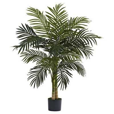 Nearly Natural 4' Golden Cane Palm Tree - Target