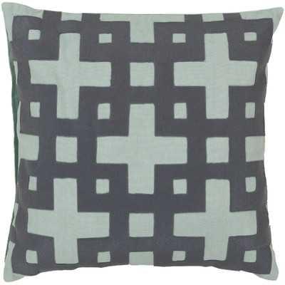 Intersecting Squares Cotton Throw Pillowby Surya - Wayfair