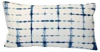 Shibori Indigo Bolster Pillow - One Kings Lane