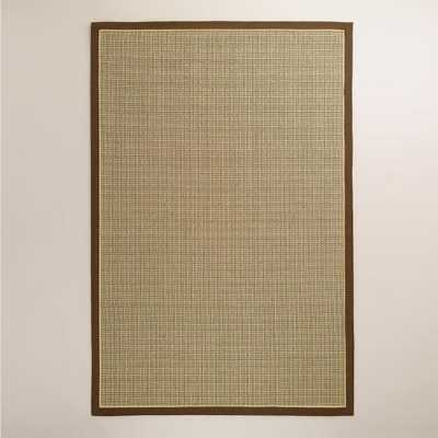Brown Cotton Border Panama Sisal Rug - World Market/Cost Plus
