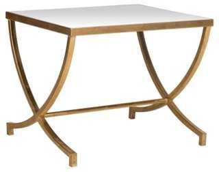 Levesque Side Table, Gold/Mirrored - One Kings Lane