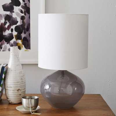 Nook Glass Vessel Table Lamp - Grey - West Elm