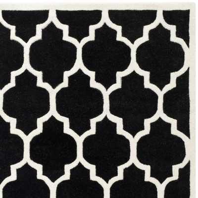 Safavieh Chatham Black / Ivory Moroccan Rug - Wayfair