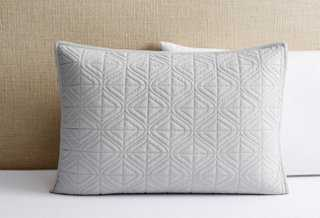Dewdrop Quilted Standard Sham, Dove - One Kings Lane