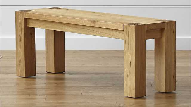 Big Sur Natural  Bench - Crate and Barrel