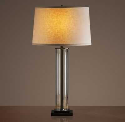 FRENCH COLUMN GLASS TABLE LAMP - RH