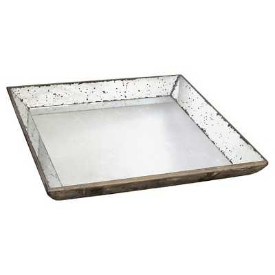 """Vintage Finish Mirrored Glass Tray - 20x20"""" - Target"""