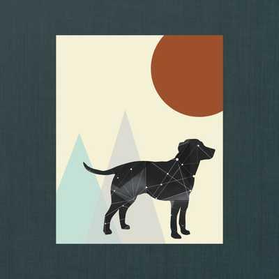 """Geometric Modern Dog Wall Art - 8"""" x 10"""" - Unframed - Etsy"""