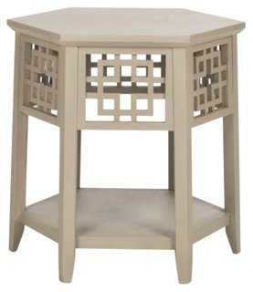 Magnolia Side Table, Taupe - One Kings Lane