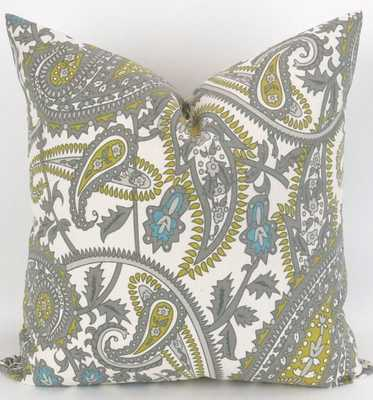 Paisley Throw Pillow, Accent Pillow - 26sq. - Etsy