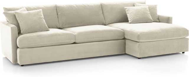 Lounge II 2-Piece Sectional Sofa - Wheat - Crate and Barrel