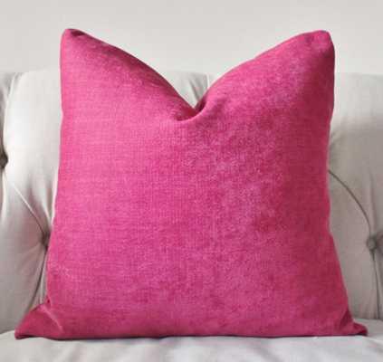 "Dark Pink Pillow - Raspberry Pillow Cover - 18"" x 18"" - no insert - Etsy"