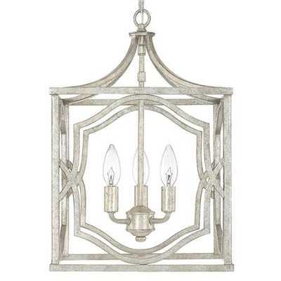 Small Modern Fretwork Frame Lantern - shadesoflight.com