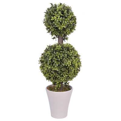 Artificial Double Ball Topiary in Planter - Wayfair