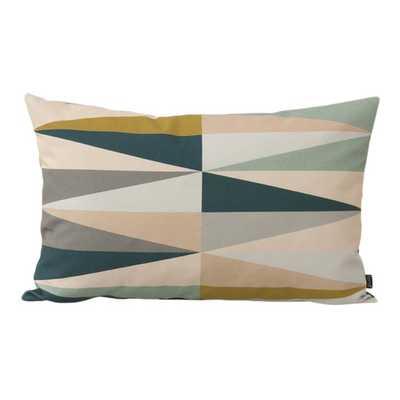 """Spear Organic Cotton Lumbar Pillow - 15.75""""x23.62"""" - Down/Feather insert - AllModern"""
