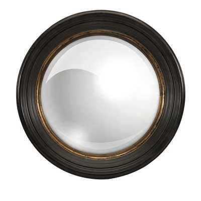 Manning Black Round Mirror - Overstock