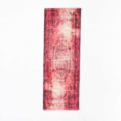Distressed Arabesque Wool Rug - Shockwave -  2.5'x7' - West Elm