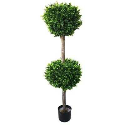 4.5 ft. Hedyotis Double Ball Topiary Tree - Home Depot