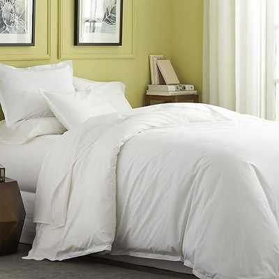 Belo White Full/Queen Duvet Cover - Crate and Barrel