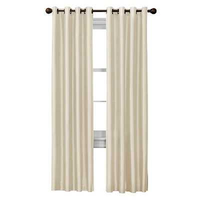 "Faux Silk Curtain Panel - Natural - 54""W x 63""L - Target"