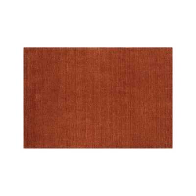 Baxter Marigold Orange Wool Rug - Crate and Barrel