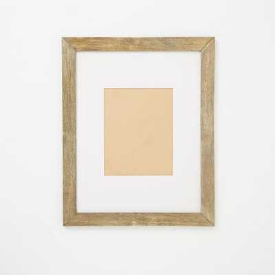 "Gallery Frames - Weathered Wood - 16.5"" x 20.5"" - with mat - West Elm"