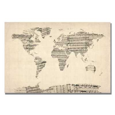 World Sheet Music Map - Wayfair