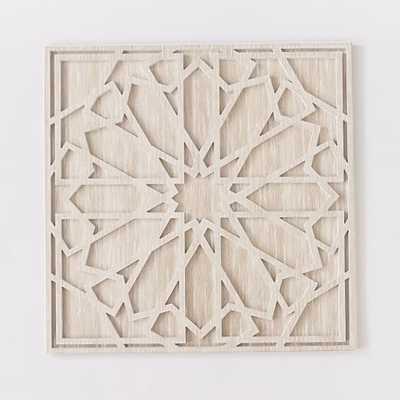 "Whitewashed Wood Wall Art- Individual- 47.5""sq. x 1""d- Unframed - West Elm"