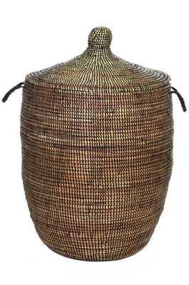 Large Lidded African Prayer Mat Hamper - Domino