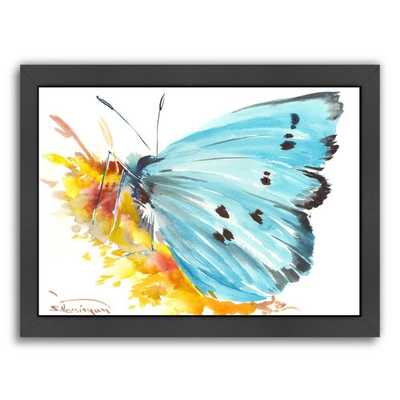 "Holly Blue Butterfly 2 Framed Painting Print - 21"" H x 27"" W - Wayfair"