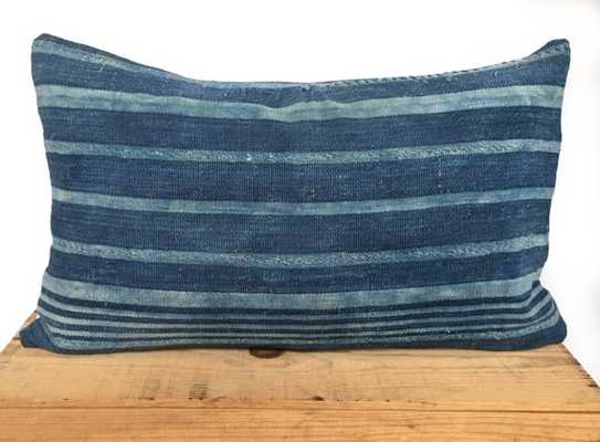 12x20 Inch Vintage Indigo African Mud Cloth Pillow Cover - Insert sold separately - Etsy