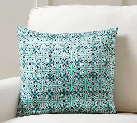 """Torrey Scarf Print Pillow Cover-Multi-18""""x18""""-No Insert - Pottery Barn"""