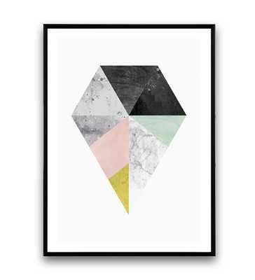 Diamond print, Marble decor, Housewares, Interior design, Geometric print, Abstract art, Scandinavia - Etsy
